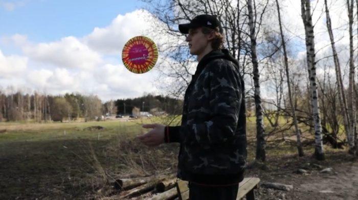 Chicago Bulls' Lauri Markkanen Throwing Discs In Finland