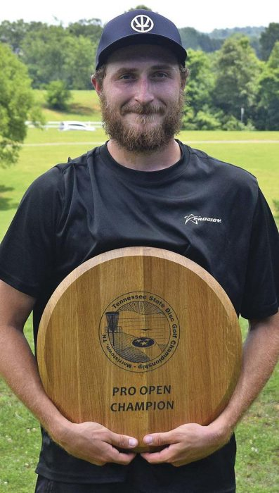 Dickerson repeats as Tennessee disc golf state champ