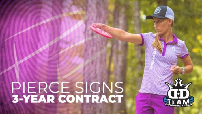 Paige Pierce, Dynamic Discs Extend Contract 3 Years
